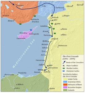 Maps for First Crusade