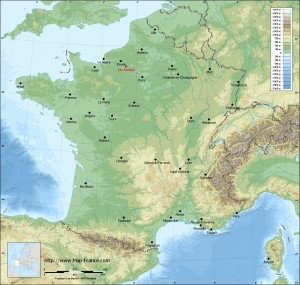 france-map-relief-big-cities-Les Andelys
